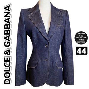 DOLCE & GABBANA Denim/Jean Blazer (44)